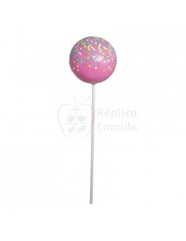 Réplica de Chupa chups rosa/multicolor con virutas dulces Ø 25cm 90cm