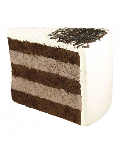 Réplica de Porción de tarta de chocolate