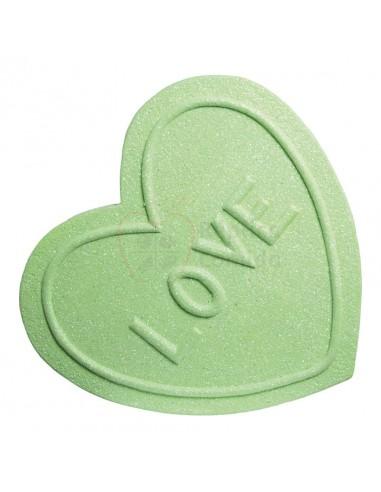Réplica de Imitación Golosina corazón verde