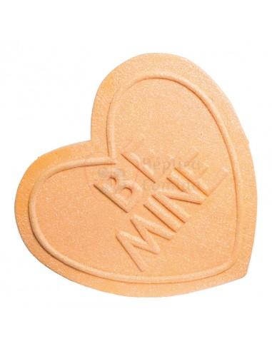 Réplica de Imitación Golosina corazón naranja