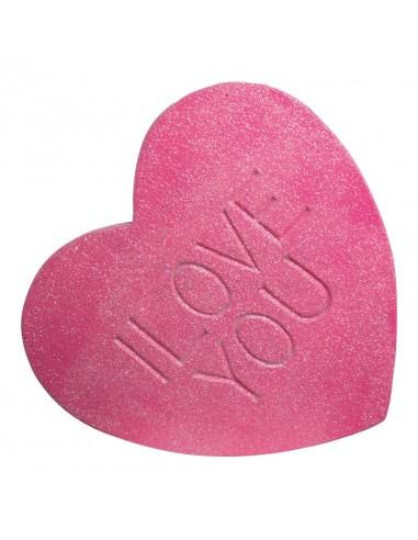 """Réplica de Imitación Golosina corazón rojo """"i love you""""  40x40 cm"""