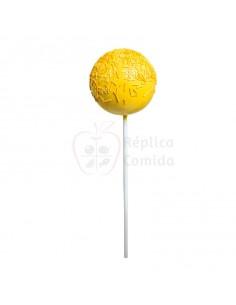 Réplica de Imitación Chupa chups amarillo con virutas dulces Ø 14cm 40 cm
