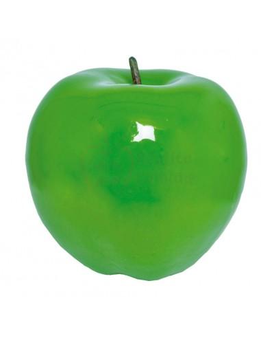 Réplica de Imitación Manzana verde entera con rabillo  15x16cm