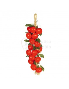 Réplica de Imitación Guirnalda de tomates con hojas Ø 12cm 40cm