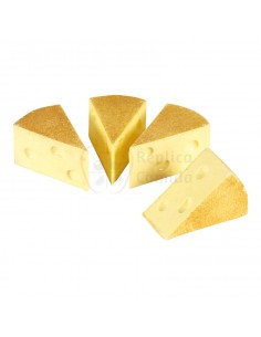 Réplica de Imitación Queso emmental en porciones triangulares  9x5cm