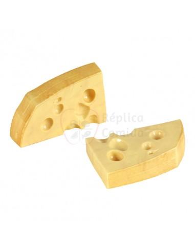 Réplica de Imitación Porciones de queso rectas  11x15cm