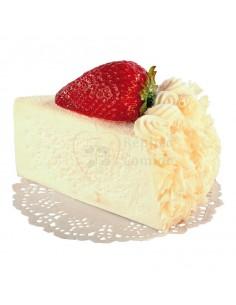 Réplica de Imitación Trozo de pastel de crema con fruta  7x10cm