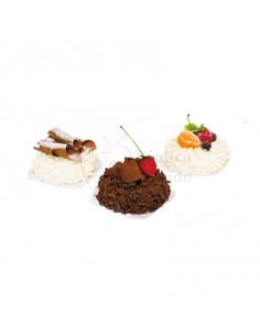 Réplica de Imitación Tartetas de chocolates y frutas Ø 8cm 14cm