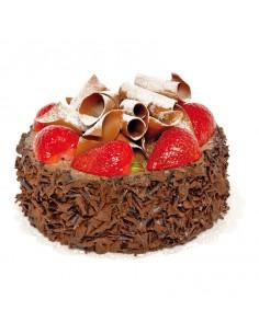 Réplica de Imitación Tarta de chocolate con fresas Ø 16cm 14cm