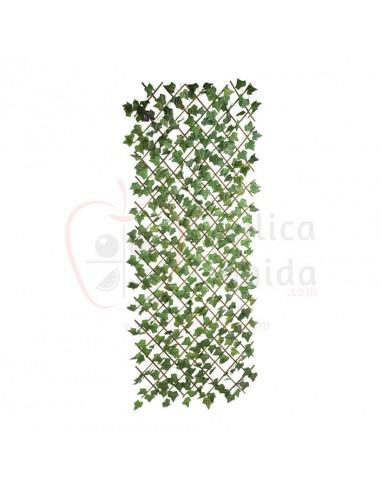 Réplica de Imitación Valla de rombos con hiedra  180x80cm