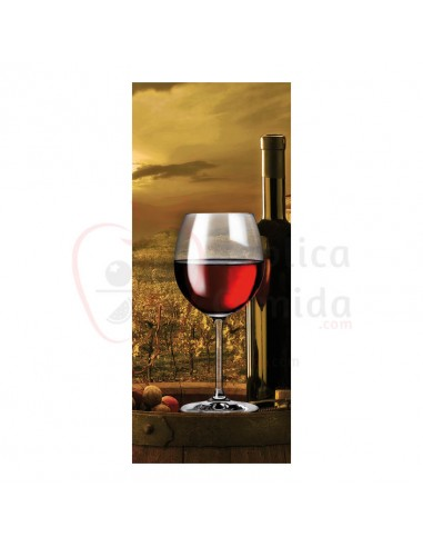Réplica de Imitación Banner fotografia de viñedo  75x180cm