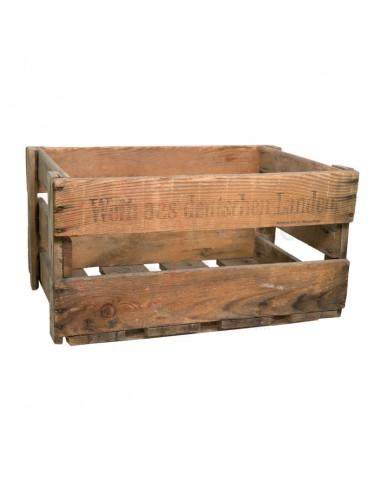Réplica de Imitación Caja de vino con texto  30x45cm